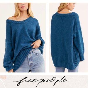 🆕 Free People Brookside Tunic Sweater Size XS